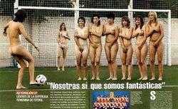 La foto delle ragazze del Torrejon per la rivista 'Intervi�'  Il