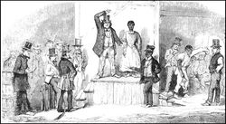 Slave Auction at Richmond, Virginia', by Eyre Crowe (1856)