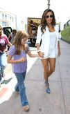 Eva Longoria Show Her Long Sexy Legs At Beso Restaurant in Hollywood