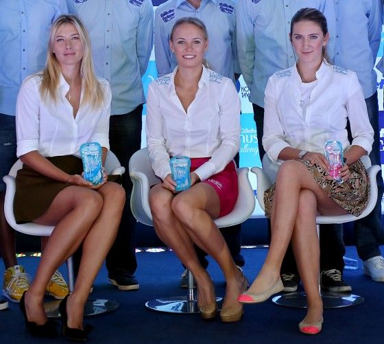 Maria Sharapova At Gillette Federer Tour Press Conference In Sao Paulo