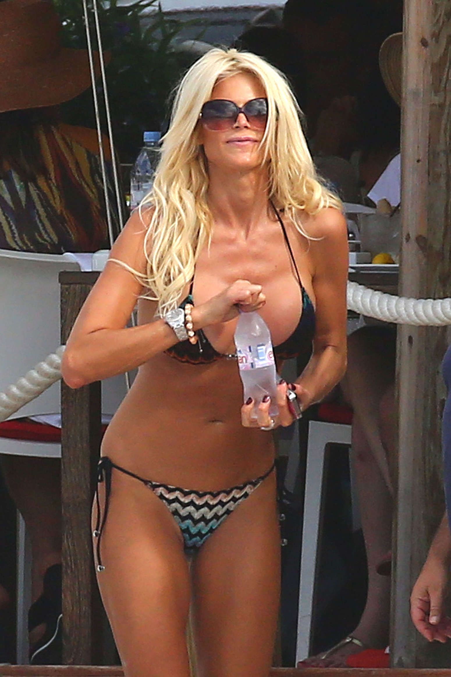 Victoria Silvstedt Bikini Candids On The Beach