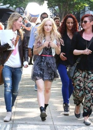 Dove Cameron On The Set Of Shawn Mendes I Belive Music Video In Toronto 06 04 2015