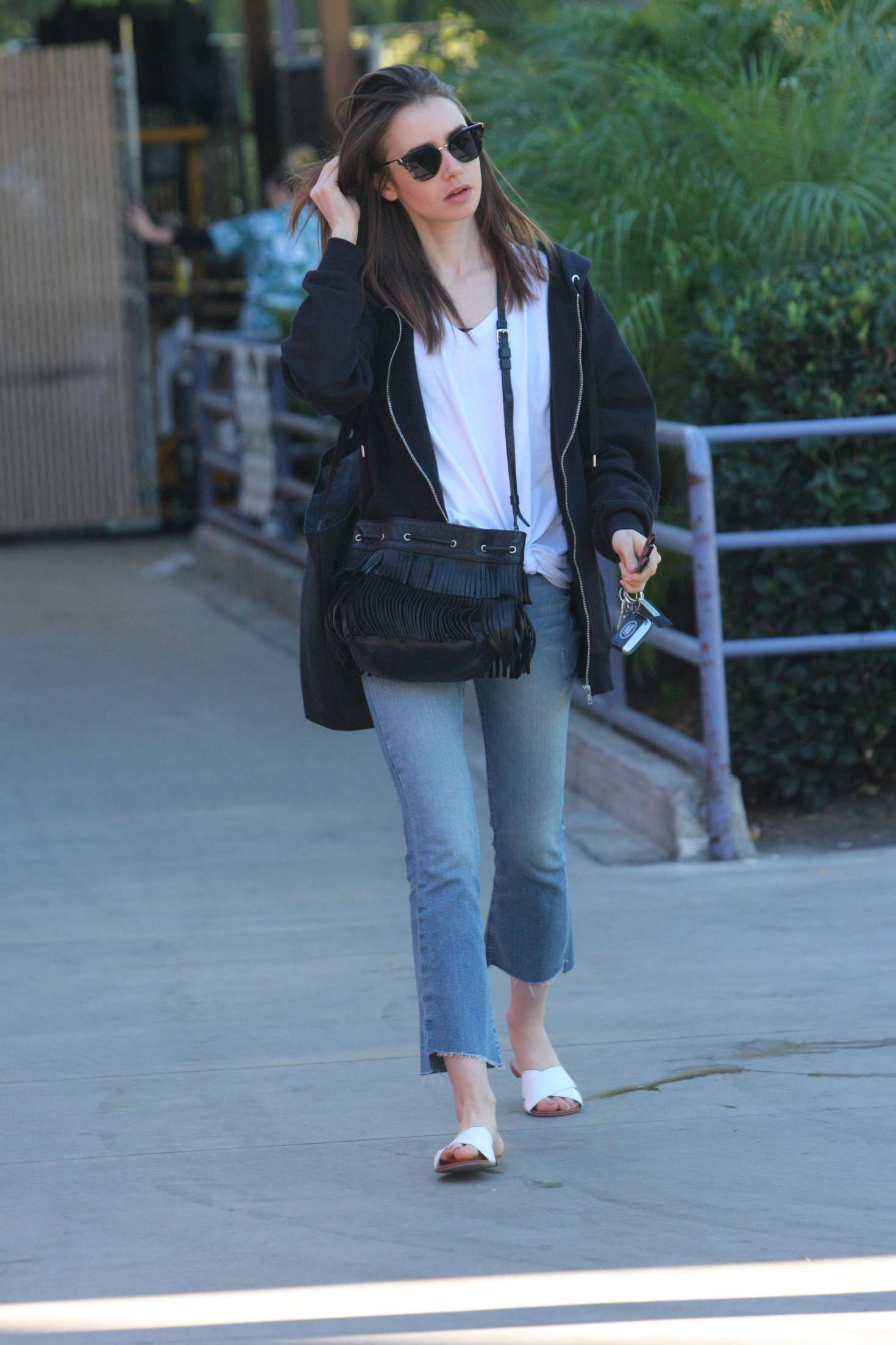 Lily Collins In Jenas Out And About In West Hollywood
