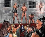 slaves humbly greet arriving Females  ,,,,, ,,,  males will be sold to
