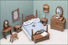 Miniature Furniture Kits  The Bedroom