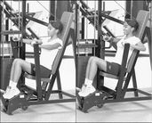 the vertical chest press enjoys favor in  Flat Chested Gymnastics