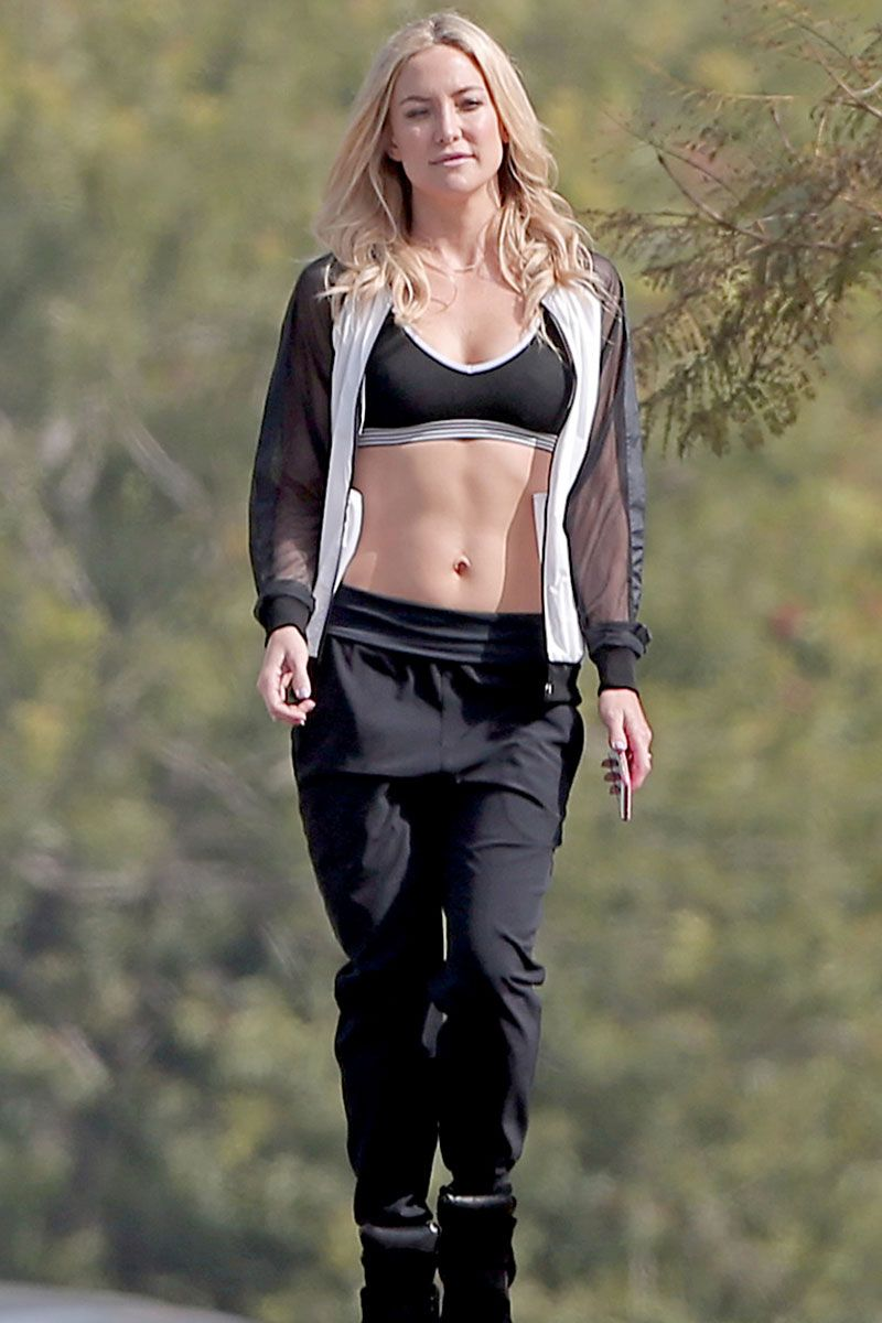 Kate Hudson In Sports Bra At Photoshoot