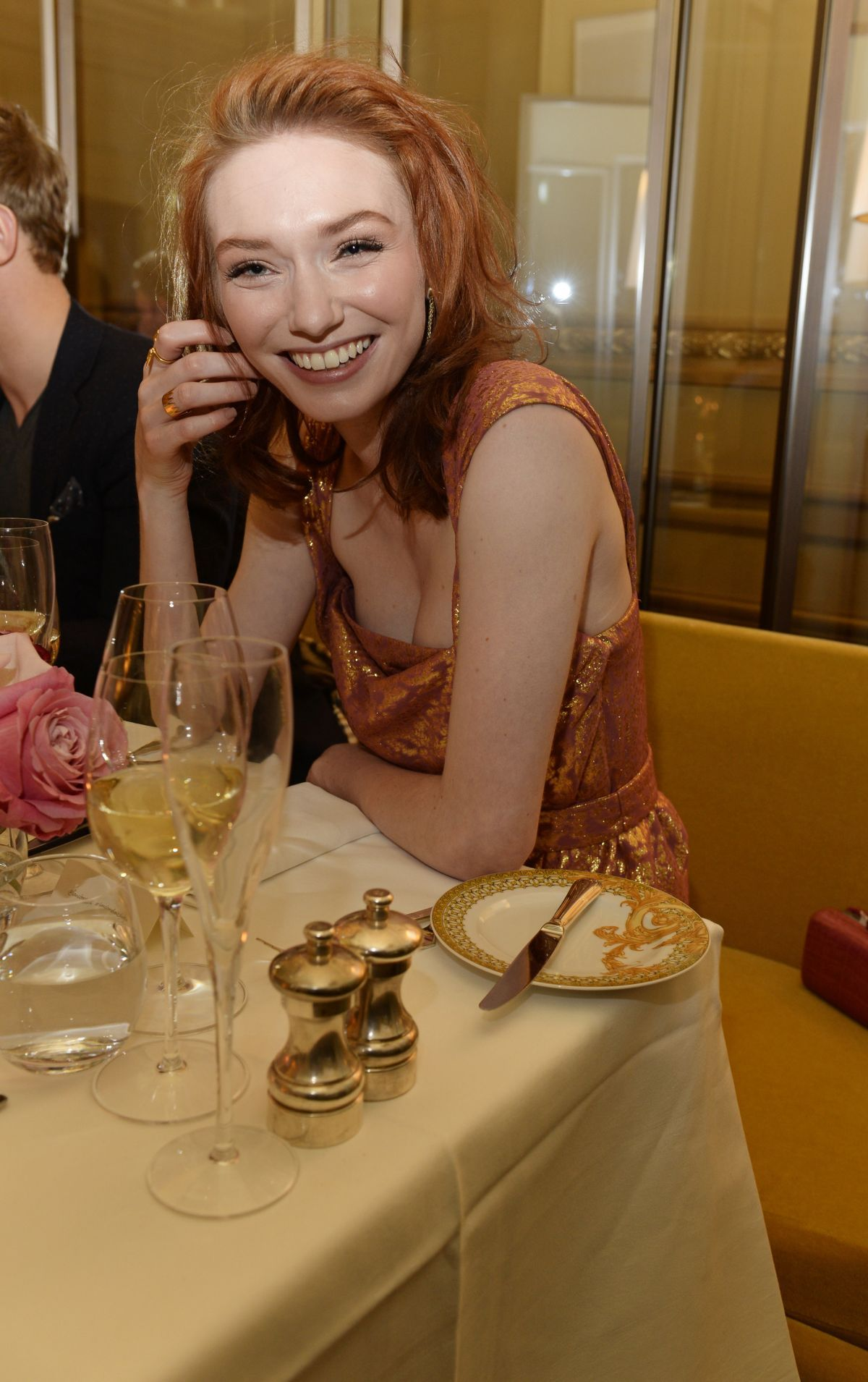 Eleanor Tomlinson At Lancome Loves Alma Pre