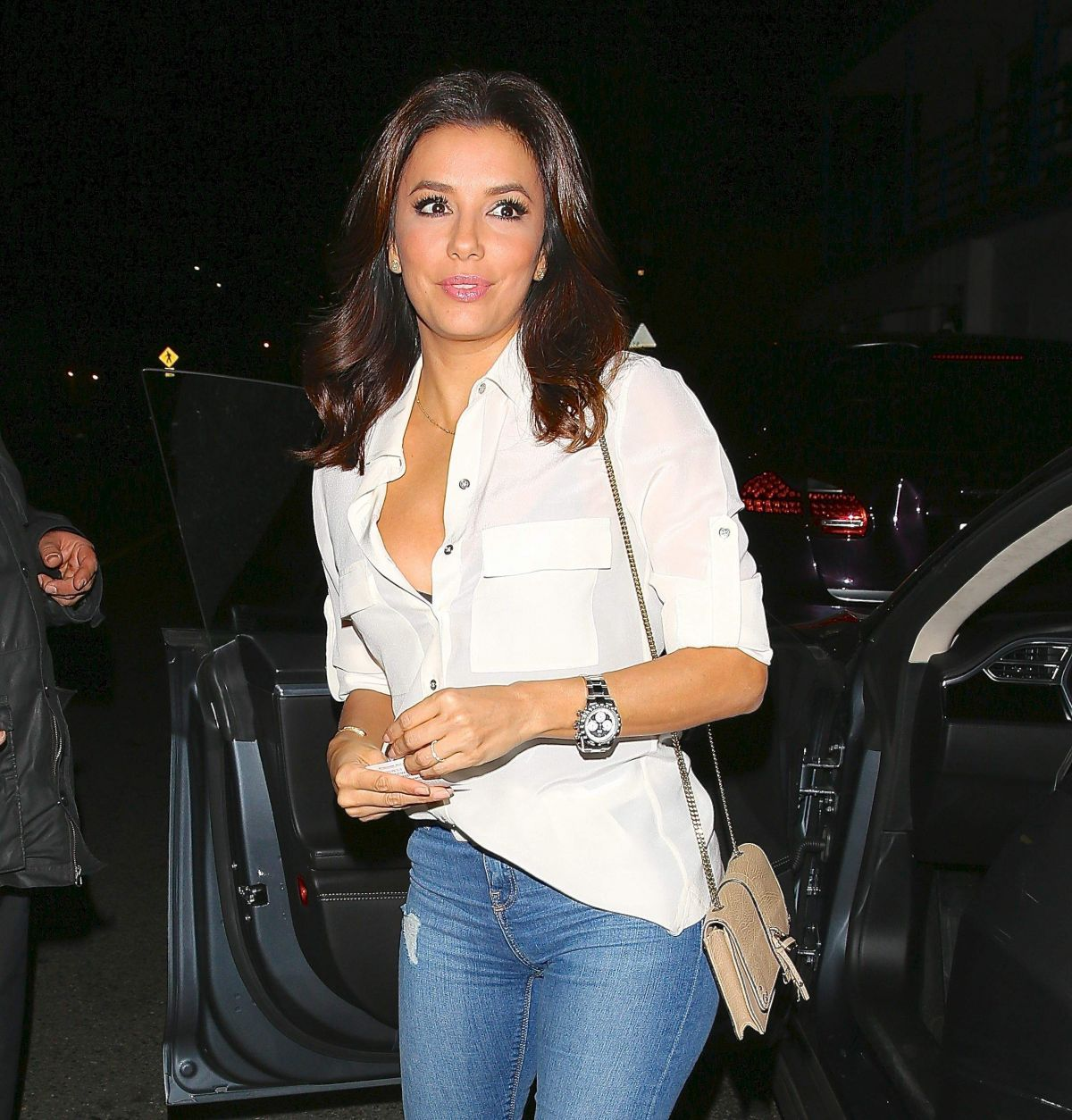 Eva Longoria Arrives At Giorgio Baldi Restaurant In Los Angeles