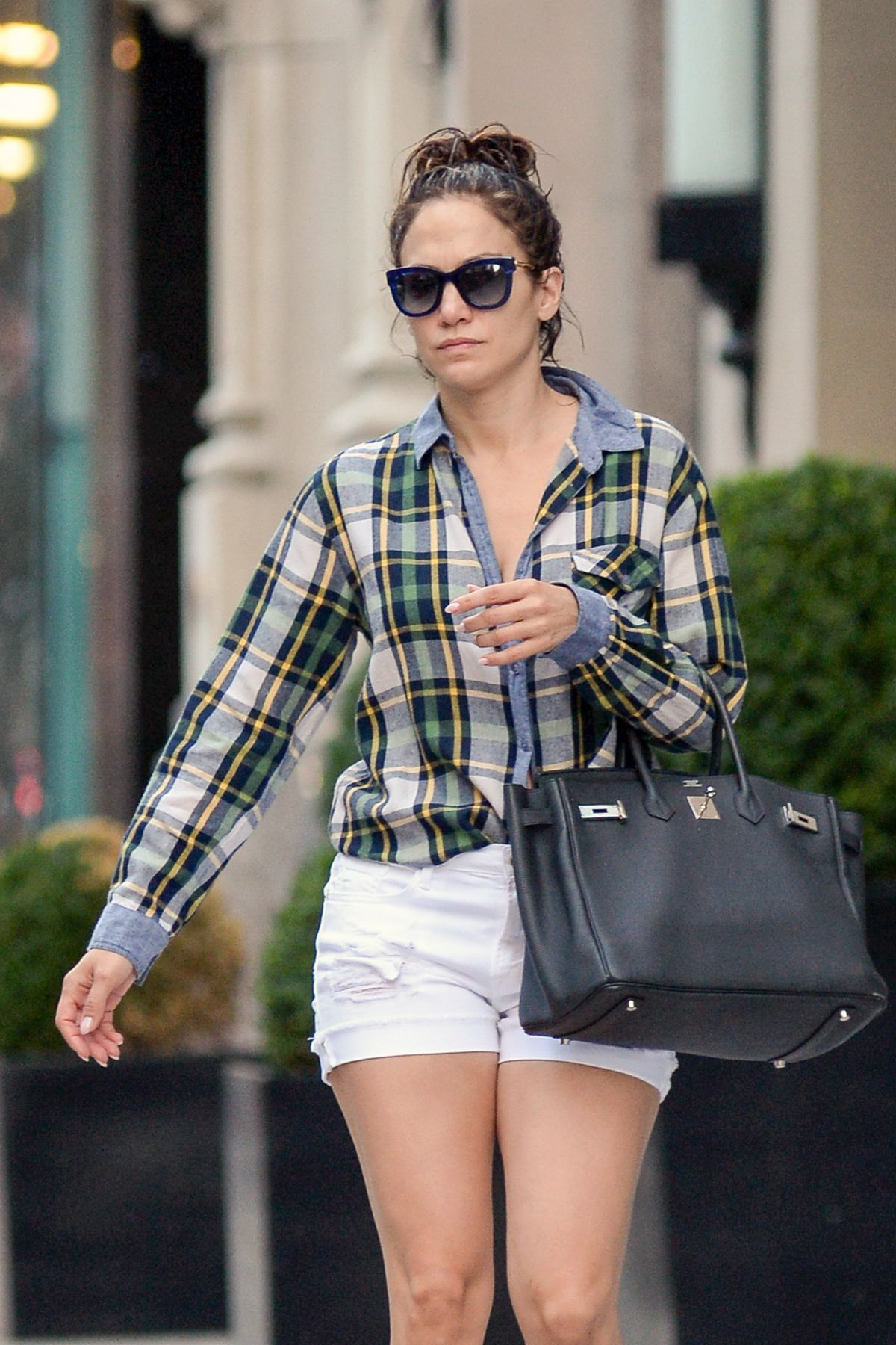 Jennifer Lopez In Shorts Out And About In New York 07 21 2015