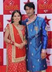 Sandhya and Sooraj from Diya Aur Baati Hum at the red carpet of Star