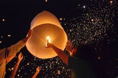fire lantern, or a kite that flies because of the heat of a candle