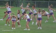 August 23, 2005 — The Cheerleading Squad had its day today