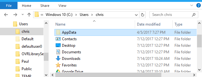 What Is the AppData Folder in Windows?