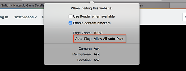 Safari Now Disables Auto-Playing Videos. Here's How to Allow Them for Certain Sites