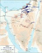 1967 War — Sinai Penetration (Map)