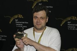 Ukrainian Film Director Myroslav Slaboshpytsky Poses With His Silver