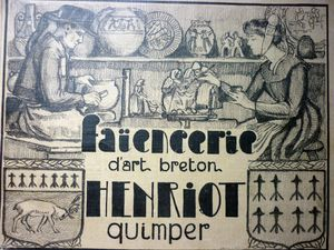 CATALOGUE FAIENCE QUIMPER, FAIENCERIE ART BRETON HENRIOT 1932 A