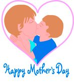 Mother's Day Kiss for Mom Heart Clip Art