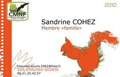, identit� visuelle  carte de membre de l'association CMNF
