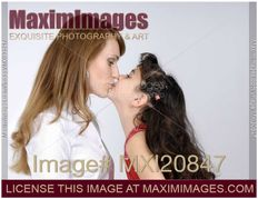 mother isolated on white background keywords daughter mother kiss