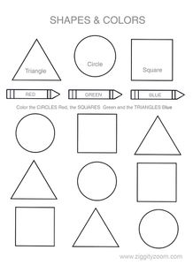 Video Description: learning shapes and colors worksheets kids learning