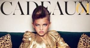 Thylane Lena Rose Blondeau is a 10-year old model made up to resemble
