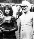 Benazir Bhutto and Indian foreign minister Sooran Singh in Shimla