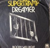 Dreamer / Bloody Well Right by SUPERTRAMP album cover