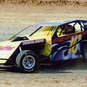 Awesome Black Dirt Modified With Race Car Graphics - RacingGraphics