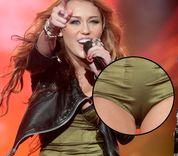 Miley Cyrus casi desnuda