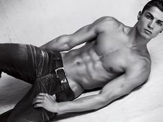 Cristiano Ronaldo for Emporio Armani photoshoot magazine, in naked