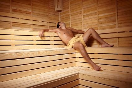 Two Boys In Sauna