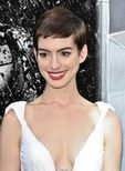 The Very Cute Anne Hathaway's Pixie Cut