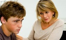 Mother and son having awkward talk about son's pornwatching habits