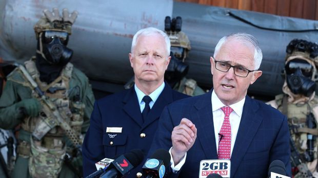 Military powers for terror attacks 'cumbersome' and need streamlining, Malcolm Turnbull says - The Sydney Morning Herald