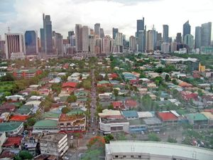 Makati City in Manila, Philippines  This is literally thousands of