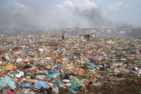 at the Steung Meanchey garbage dump, where children live and work