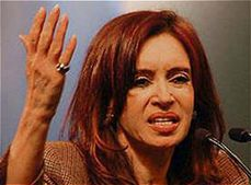 1946 Peron vs. Braden, in 2011 Cristina Fernandez Kirchner vs. Obama