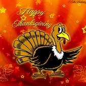 Turkey Saying Happy Thanksgiving