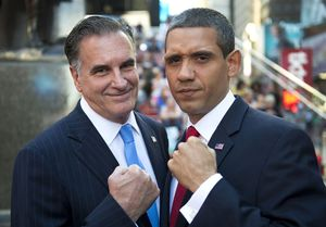 For Obama, Romney fakes, election drama is real