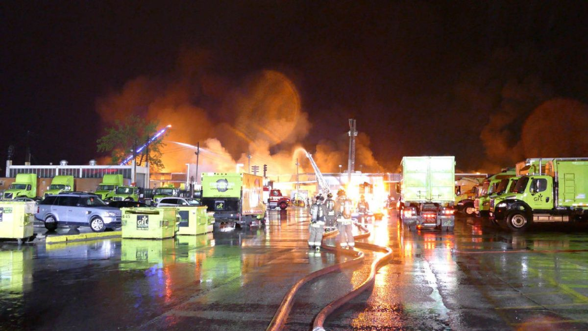 Fire at Cherry St. recycling facility has been put out