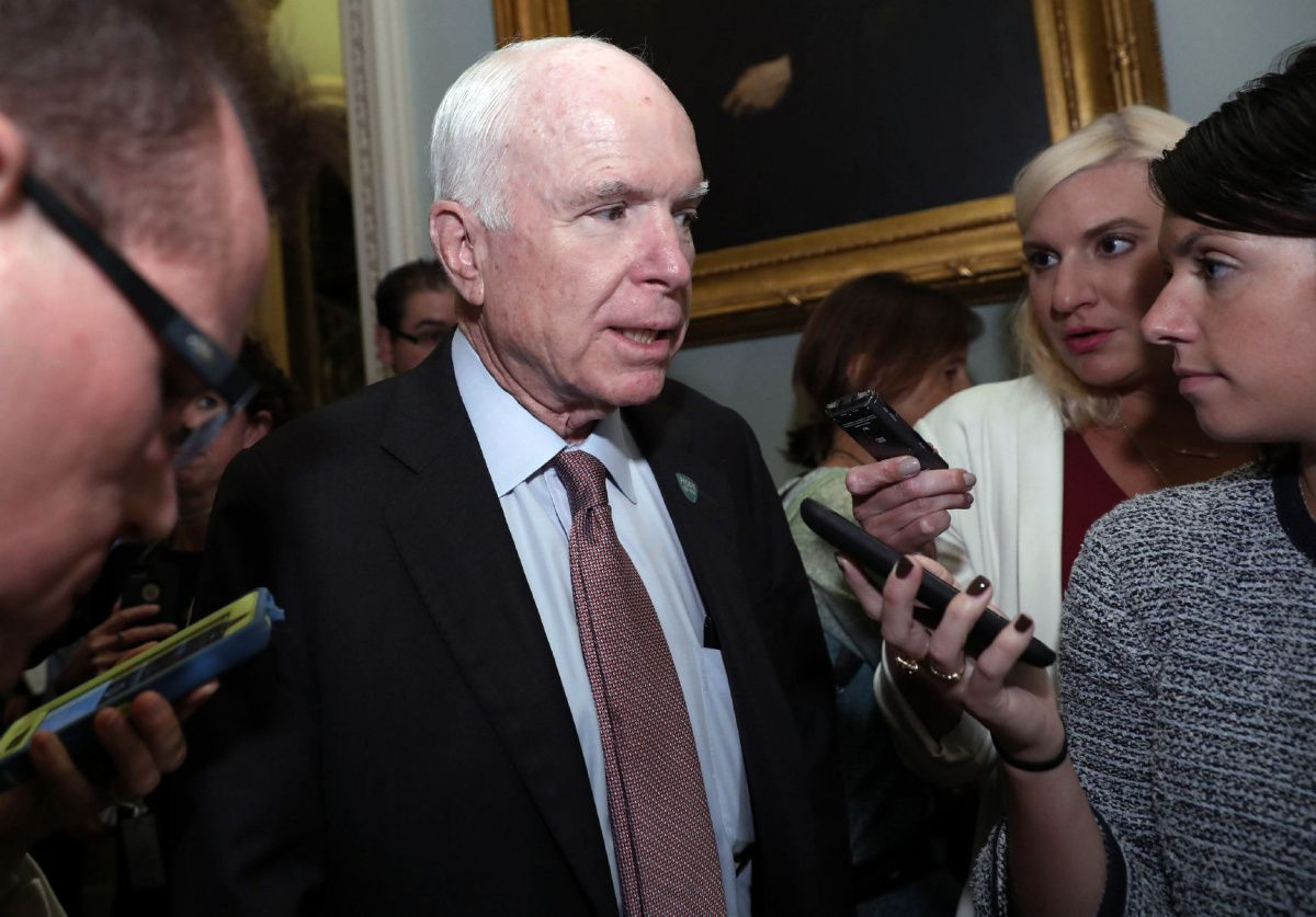 John McCain says he can't 'in good conscience' vote for GOP health bill, leaving it all but dead