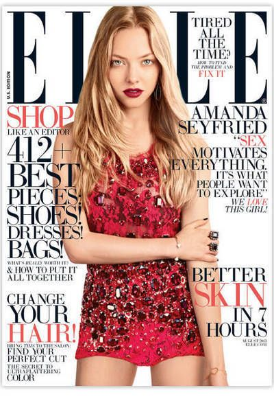 Amanda Seyfried In Elle Magazine August 2013