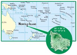 Norfolk Island detailed location map  Detailed location map of Norfolk