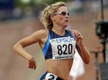 Suzy Favor Hamilton at the 2001 World Championships  (Laura Rauch / AP