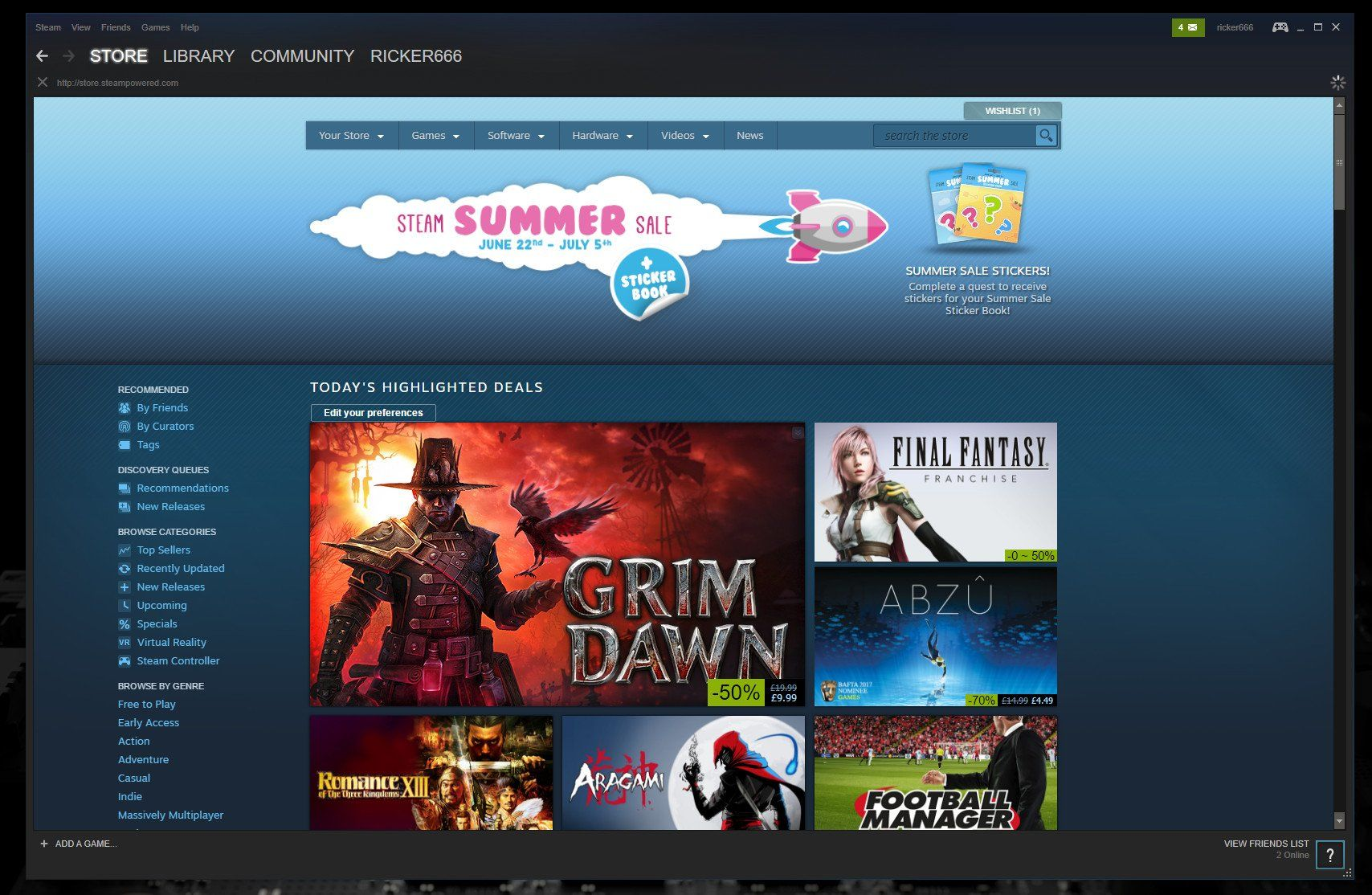 Steam's Summer Sale kicks off with massive discounts on tons of games
