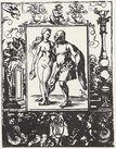 Dürer, Albrecht (Schule): Nackte Frau und Narr