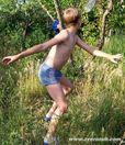 Crimea Ukraine Azov Black sea mountain boy girl child beach music