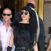 Lady Gaga Mixes Things Up In A Black And White Ponytail - Celebrity